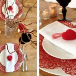 sweetheart table ideas for every season shutterfly valentine hearts accent your focus runner wooden with white plates and red heart accents target patio coffee narrow oak console 150x150