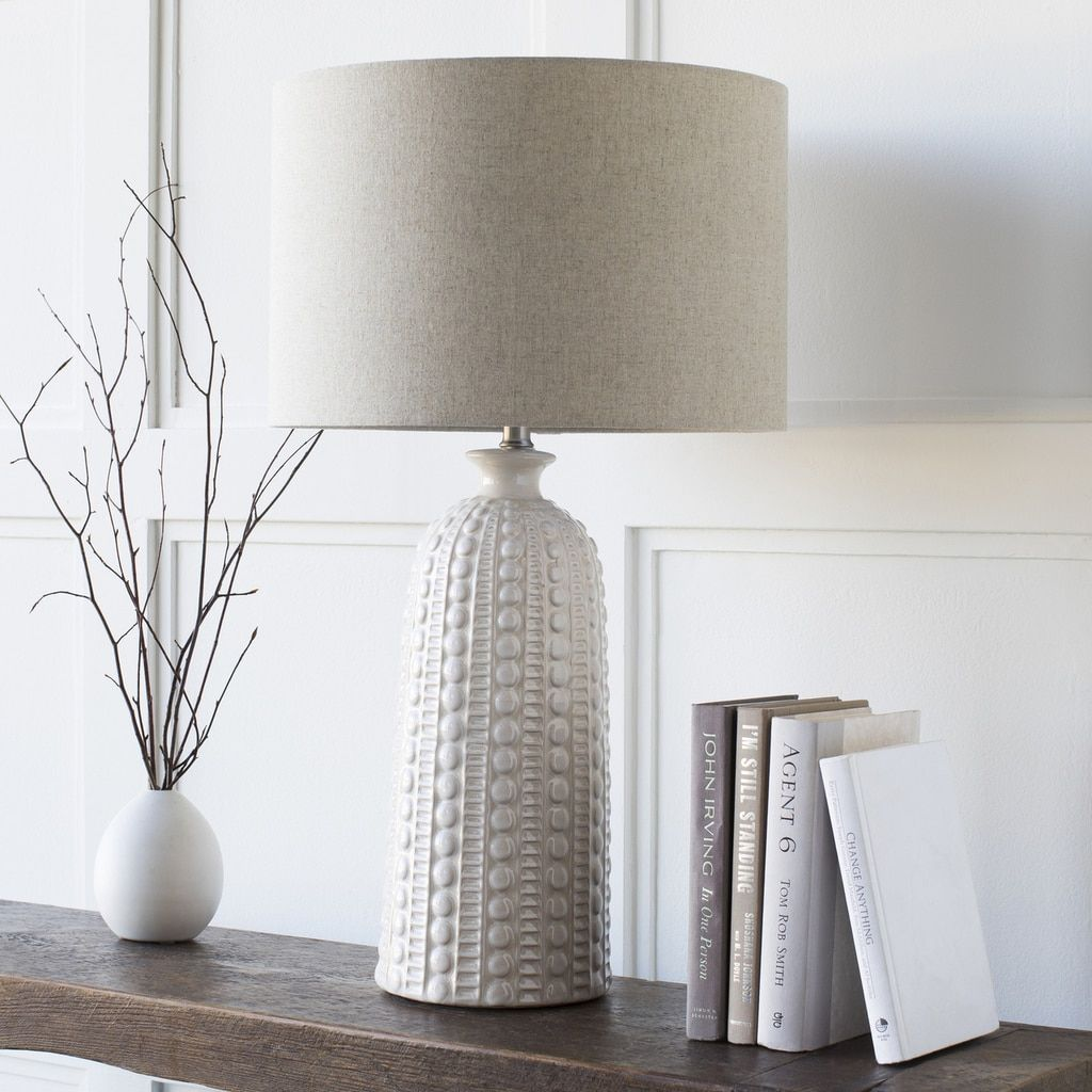 swell carmel table lamp lighting for beach homes nautical accent lamps with base that reminds washed sea urchin shell this will warm cozy glow your coastal home wine stoppers