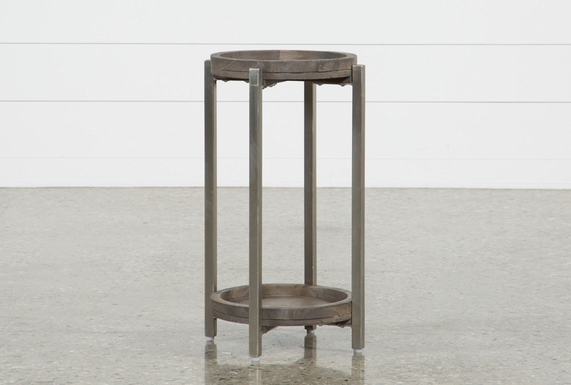 swell round accent table living spaces iron qty has been successfully your cart rustic coffee long white reclaimed wood nesting tables high bedside large with storage traditional