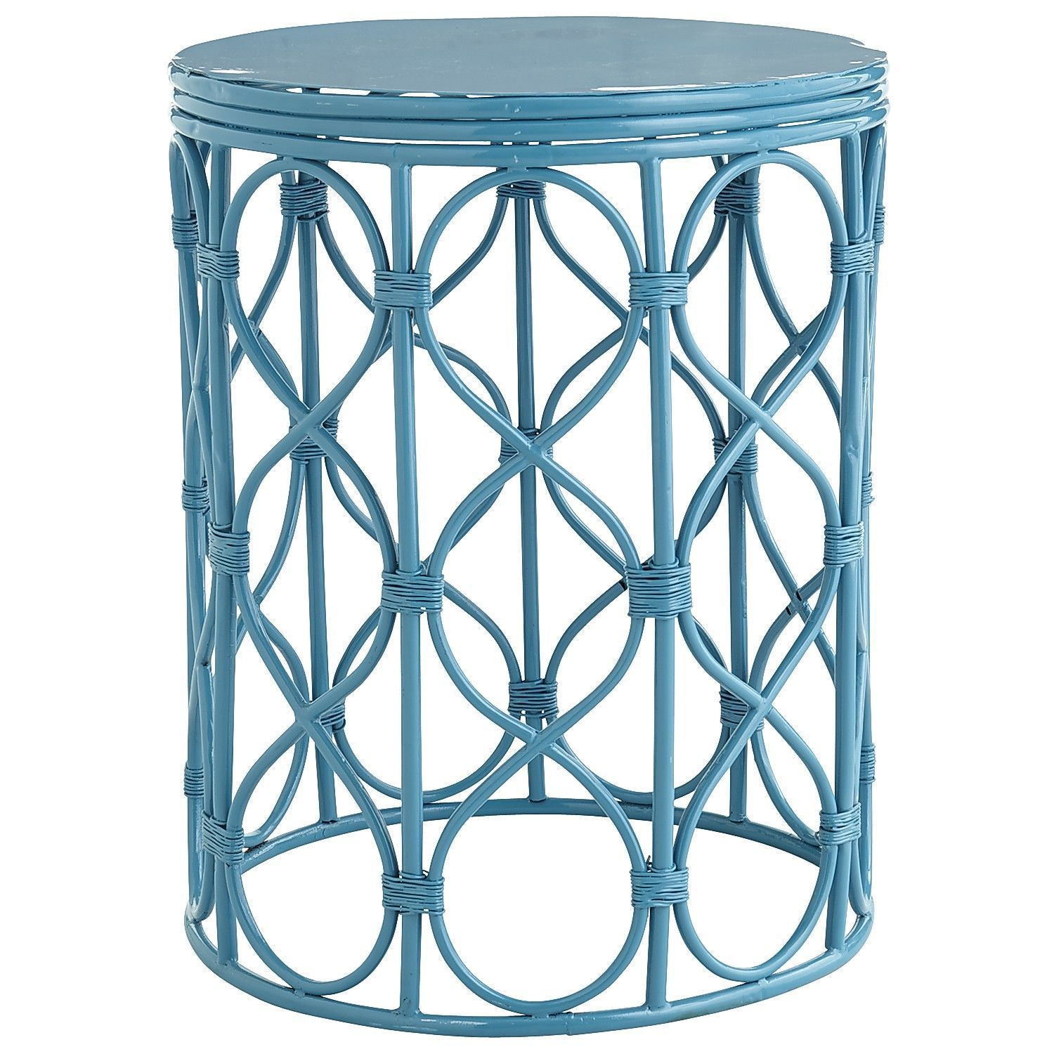 swirl drum accent table blue for screened porch victorian beach outdoor couches mirrored chest drawers mercer black cube end portable small width console unique home accessories