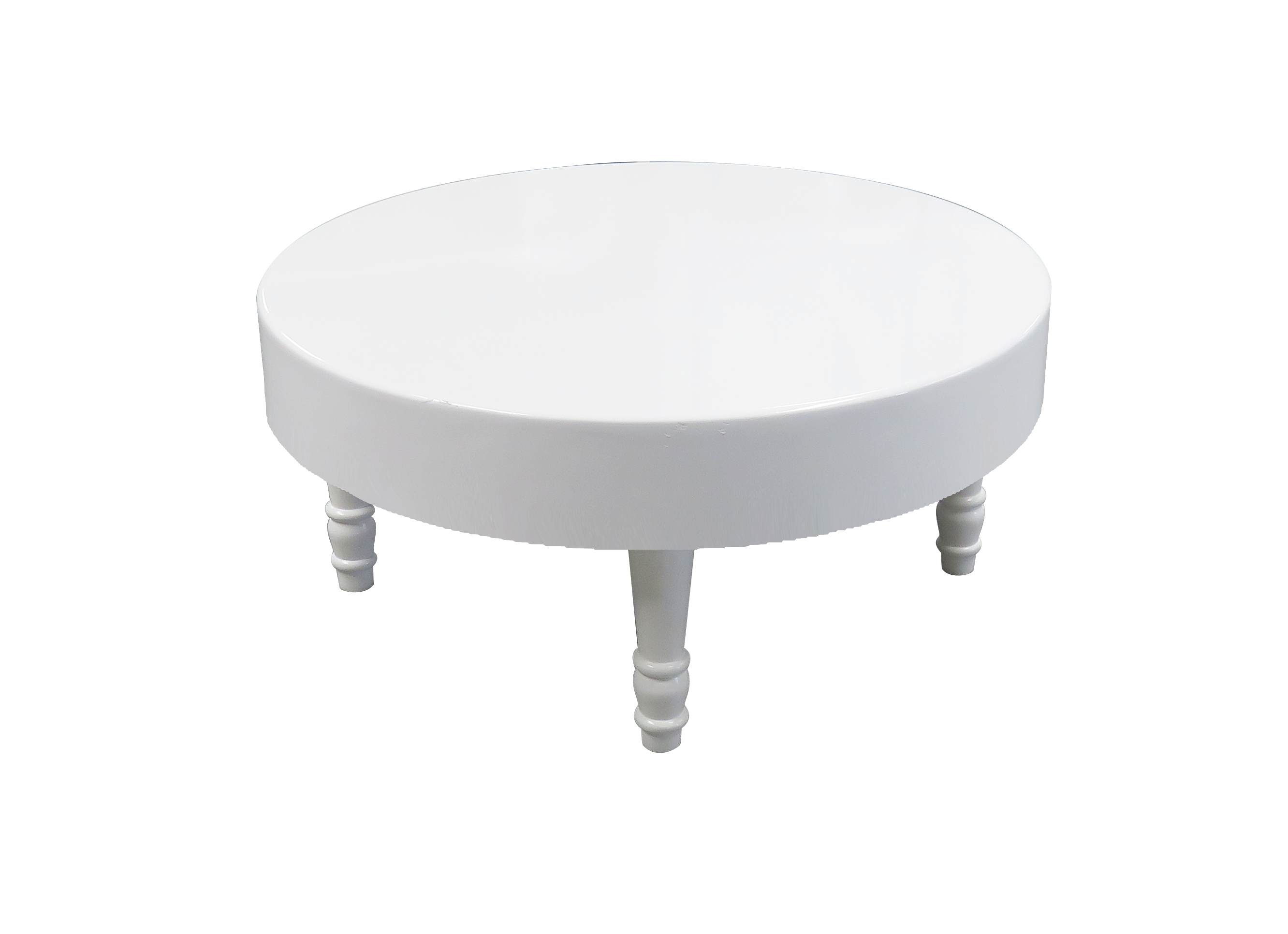 sybil round coffee table white tables low rent avalon event rental accent asian porcelain lamps mosaic top small blue end distressed chest green painted driftwood side aluminium