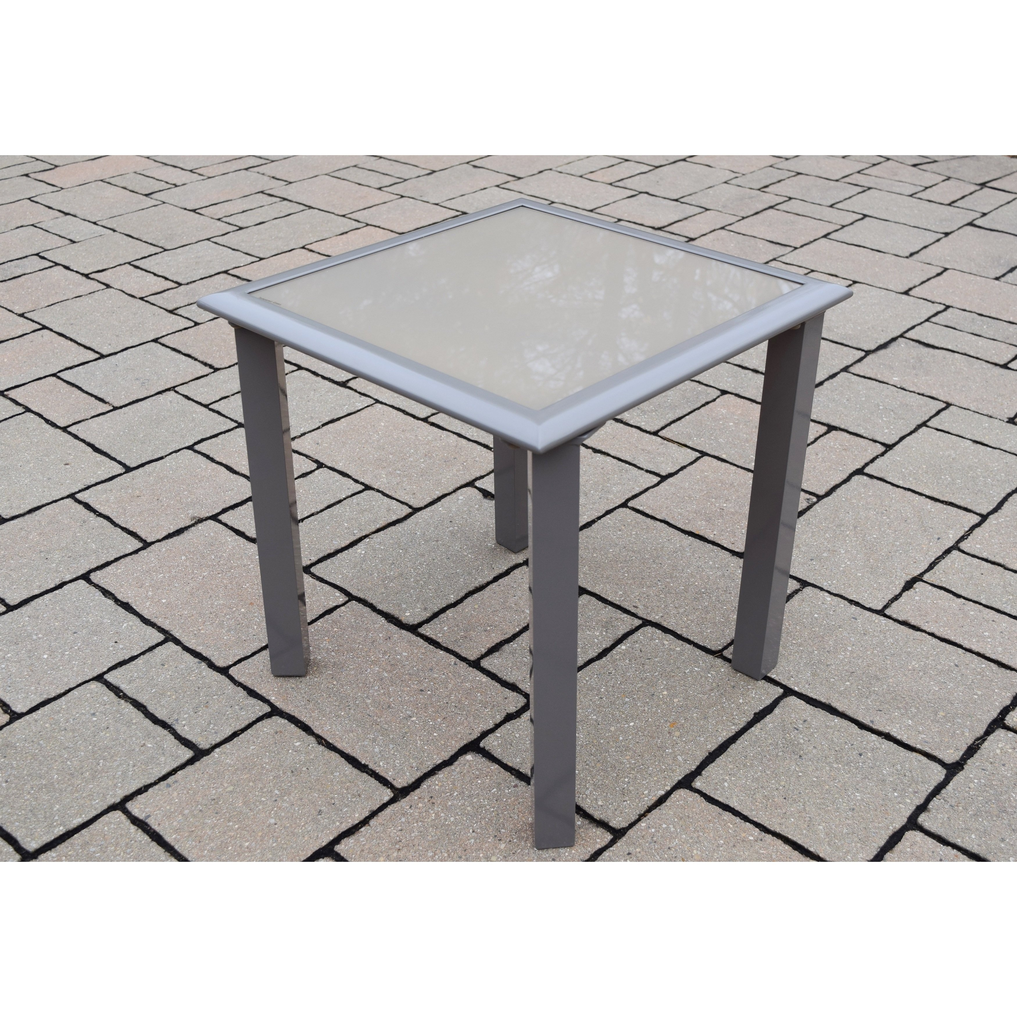 sydney aluminum glass screen printed side table free shipping cream colored metal inch outdoor entryway with shelves ikea storage drawers tiffany style bedside lamps black wire
