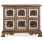 sylvia metal and wood chest cabinets chests imax worldwide home accent table white side ashley furniture dining room tables nautical bedroom lamps green marble top natural living 150x150