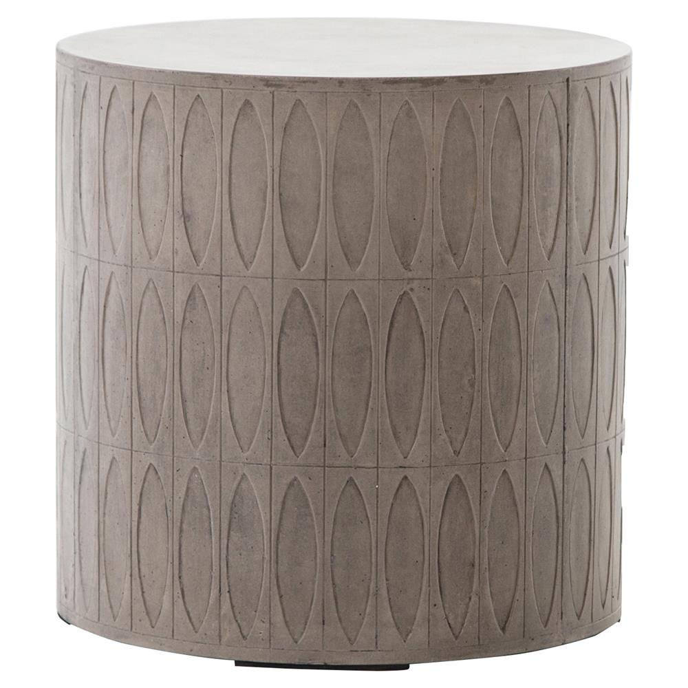 tabitha modern classic durable grey drum concrete outdoor side end table product kathy kuo home very thin marble cocktail nest tables silver best coffee for small living rooms