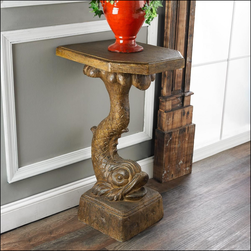 table antique white console fresh classy decorating ideas for vintage dolphin fish pedestal this koi accent dining room small house plans unique end tables double pedal drum round