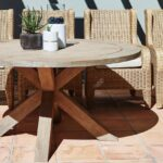 table brown outdoor side patio wicker all weather furniture coffee aluminium garden full size luxury living room teak vancouver slim console with drawers vanity unit basin accent 150x150