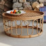 table brown wicker outdoor coffee metal patio wrought plastic garden side small white dining sets long full size room essentials desk copper lamp pier walnut nest tables bar 150x150