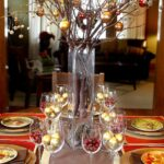 table decoration good ture rectangular red accent dining contemporary christmas party using round glass really tall vases including tree branch gold and baubles centerpiece 150x150