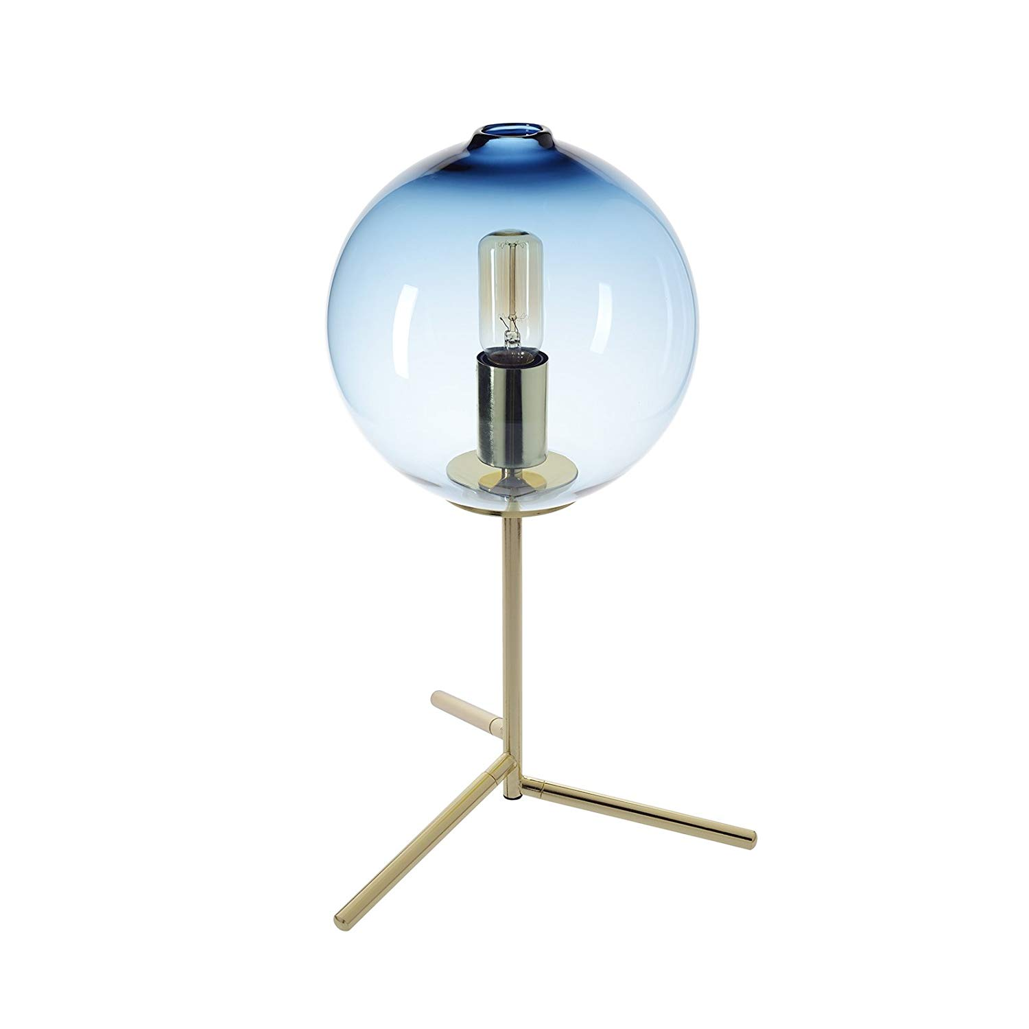 table lamp handblown glass light contemporary decorative uplight accent gold with marble top wooden storage crates ikea tabletop accessories long skinny coffee and side set