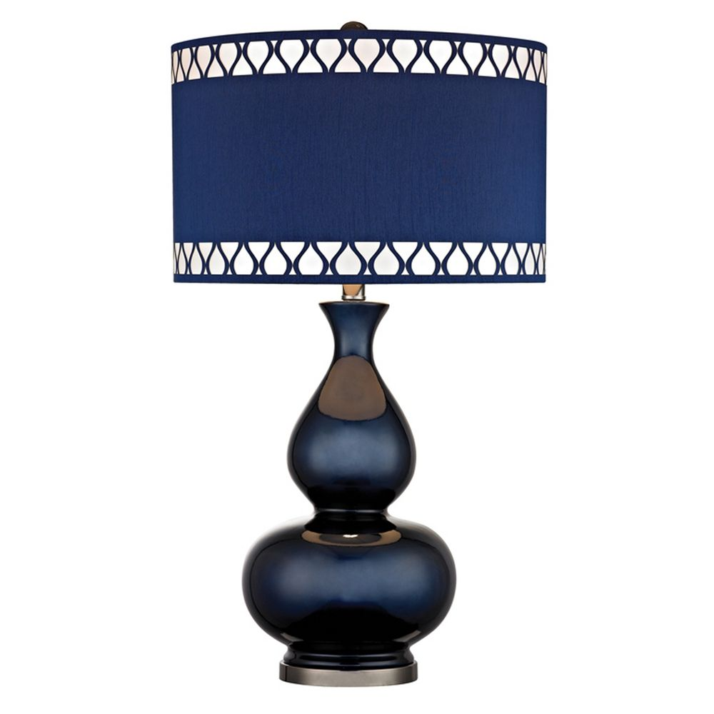 table lamp with blue shades navy black nickel finish zoom accent lighting seattle dimond small round foyer homestyle furniture unusual wine racks ethan allen reviews kirklands