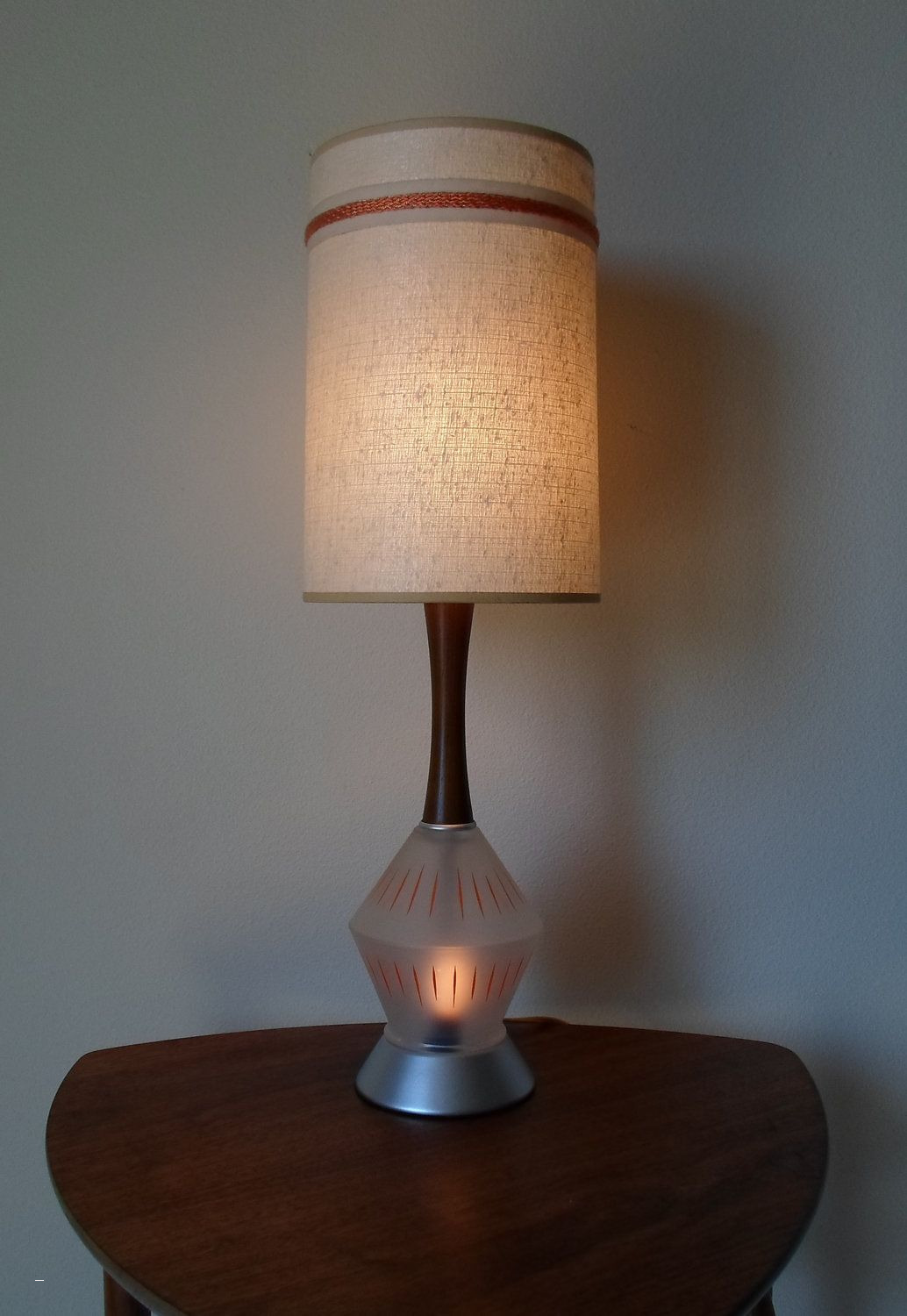 table lamp with nightlight base best vintage mid century modern replacement glass shades contemporary for floor lamps drum shade chandeliers frosted cylinder accent wood and end