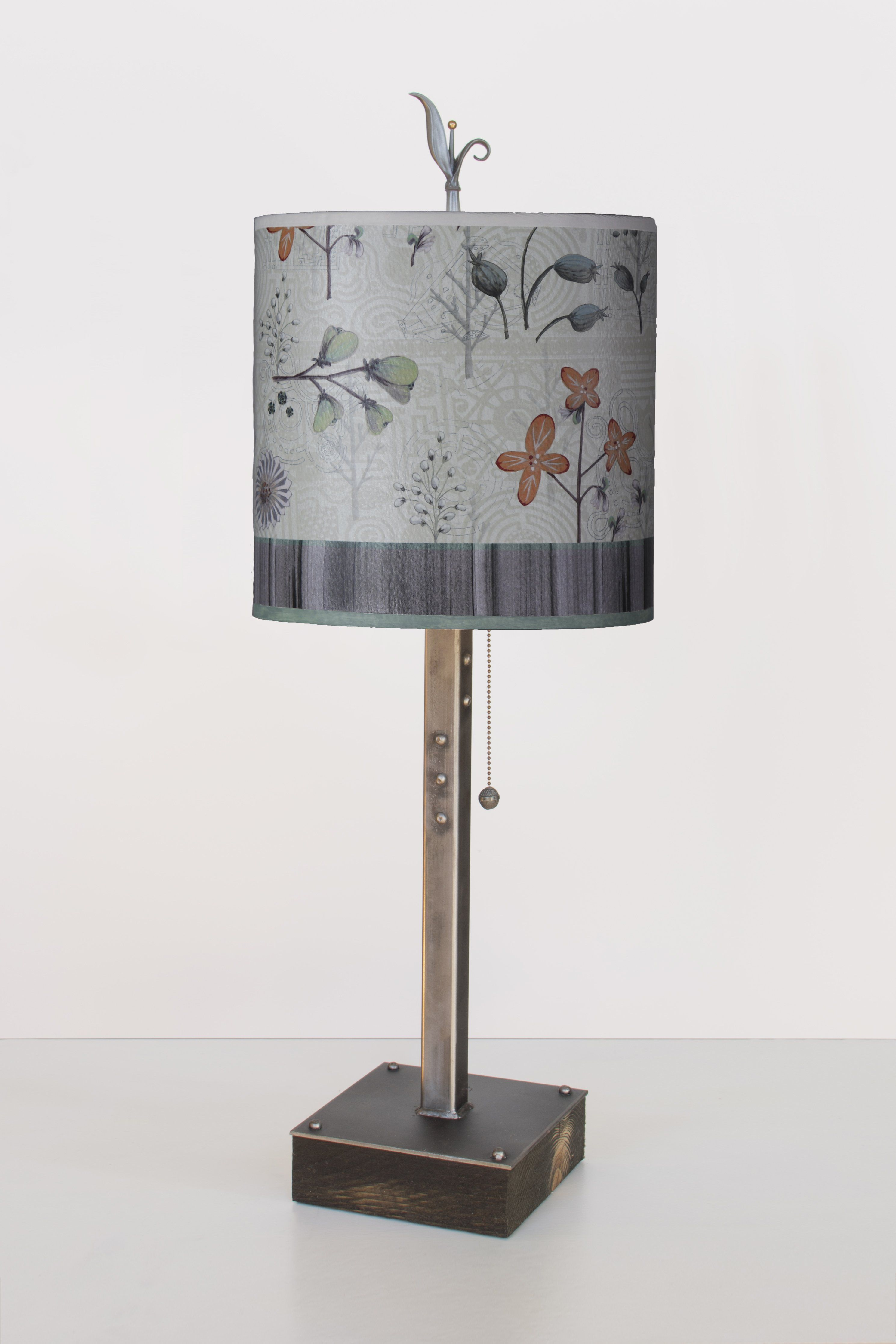 table lamps janna ugone fam web mini accent steel lamp reclaimed wood base with small oval shade flora maze pulaski convertible sofa gold glass side mosaic round square dark brown