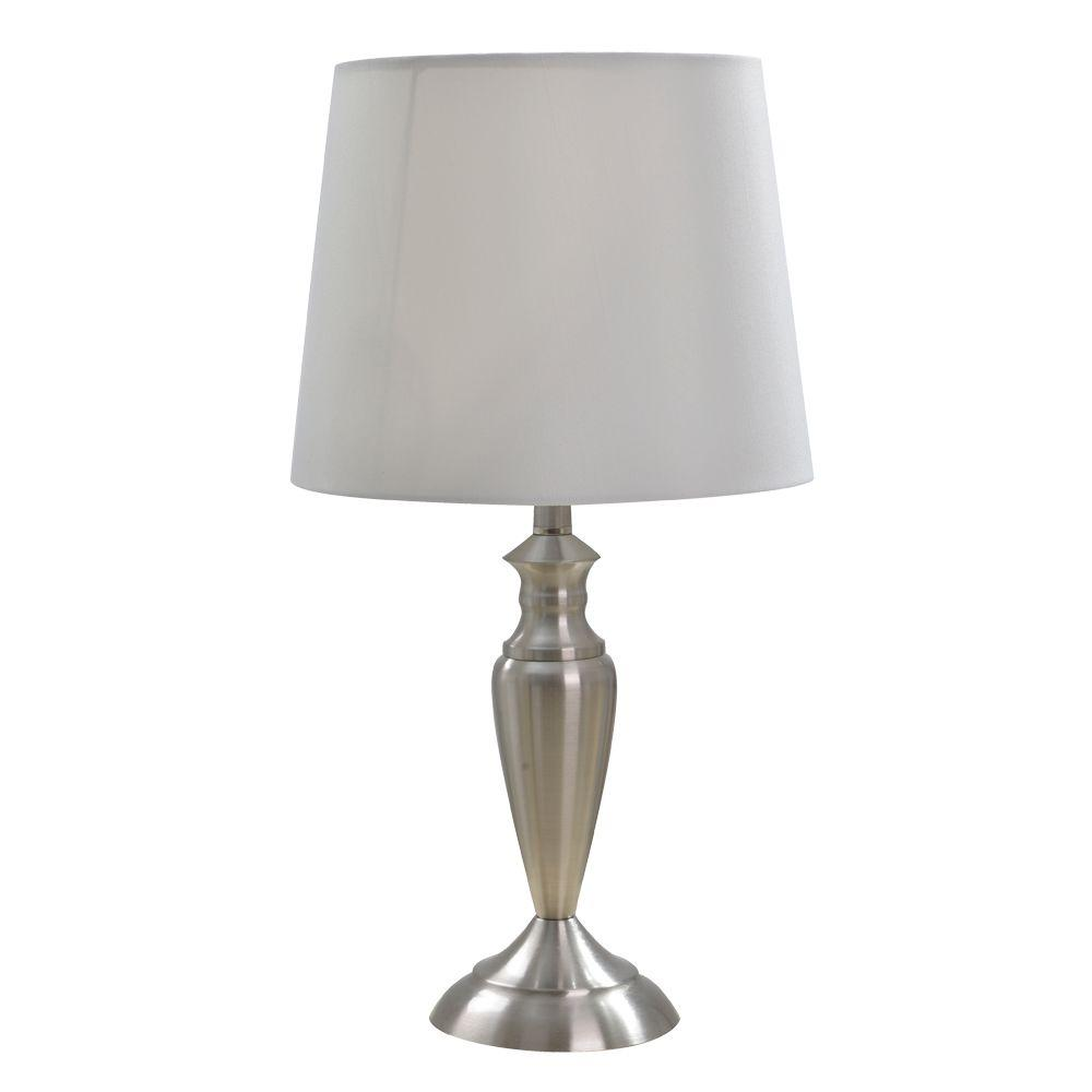 table lamps the brushed nickel alsy mini accent lamp homesense tables bunnings outdoor storage ikea bedroom cabinets white tablecloths for round dark brown winsome oval plastic