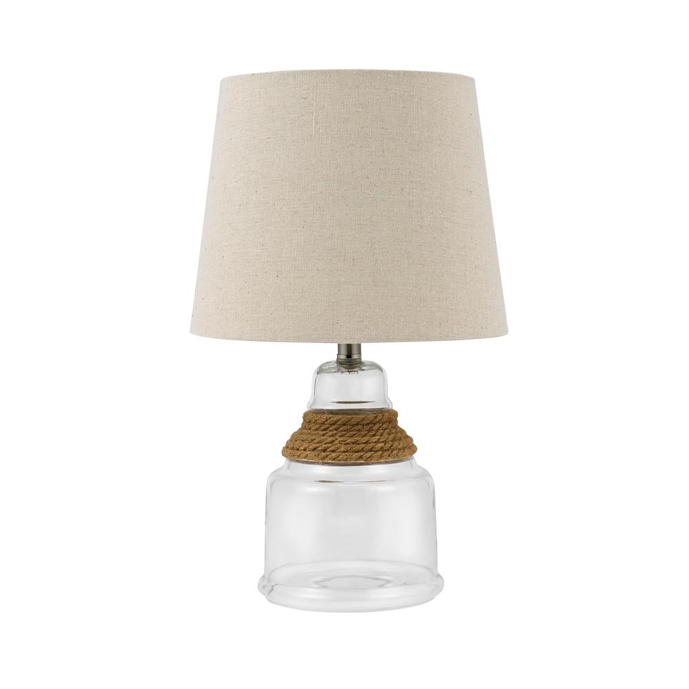 table lamps the clear catalina lighting miniature accent glass rope lamp with linen shade antique and chairs inch wide nightstand mainstays side pottery barn white round hallway