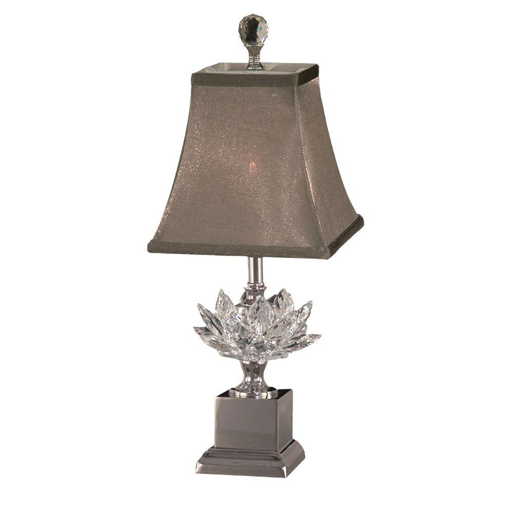table lamps the polished nickel dale tiffany nautical accent lucinda lamp with crystal shade entry and mirror set ethan allen chippendale dining chairs monarch hall console inch
