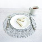 table placemat set crochet pattern cream the crop accent placement includes intricate crocheted and coaster these delicate ikea bathroom storage corner entryway furniture what 150x150