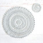table placemat set crochet pattern cream the crop accent placement includes intricate crocheted and coaster these delicate plastic patio lime green outdoor side white washed wood 150x150
