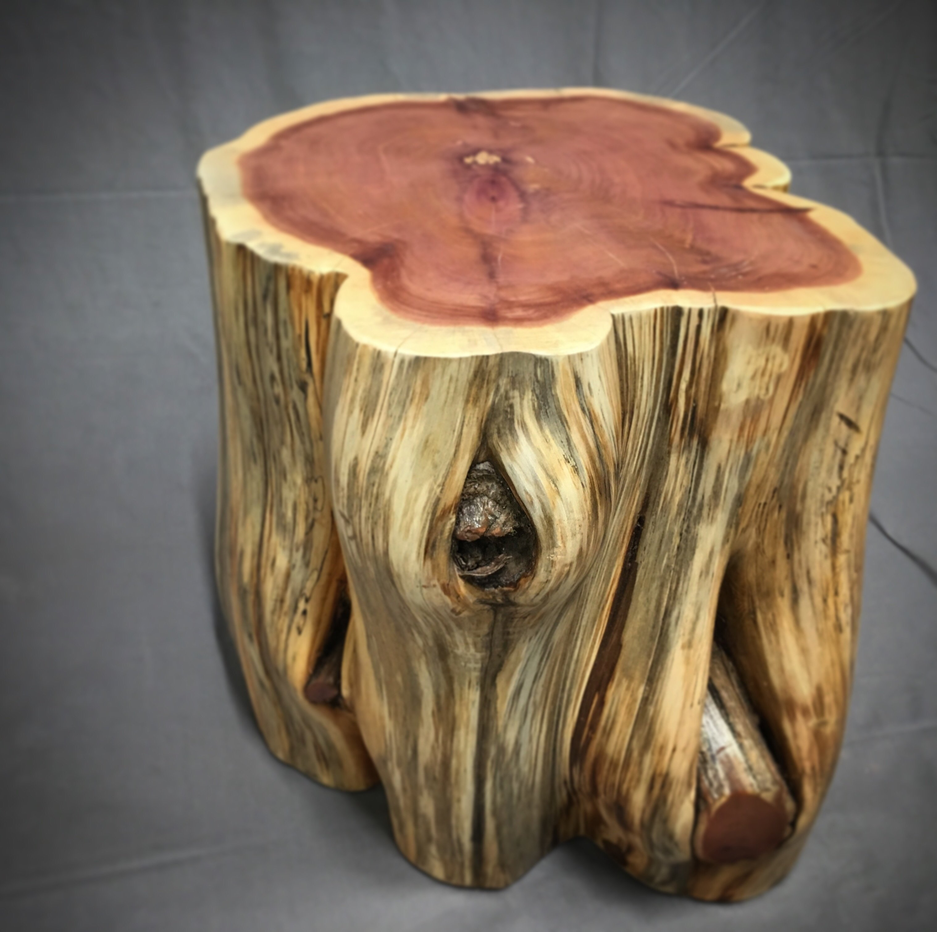 table protector mat the perfect cool wood stump end ideas knaughty log tree night stand laminate furniture cherry coffee and tables broyhill attic heirlooms target christmas