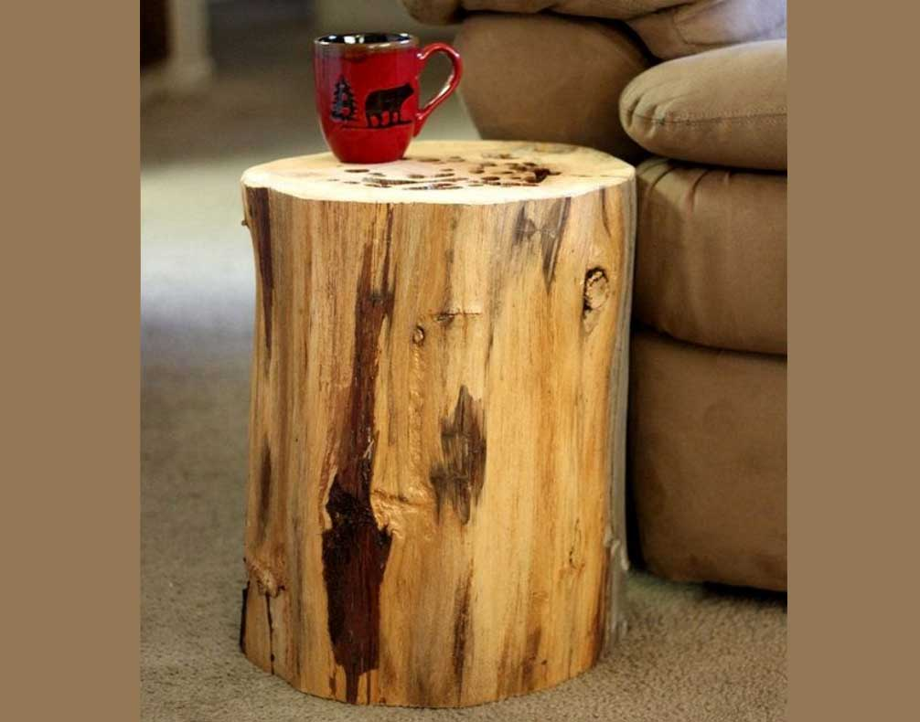 table protector mat the perfect cool wood stump end ideas tree reclaimed home interior exterior white and grey bedside cabinet cherry target round plastic patio small occasional