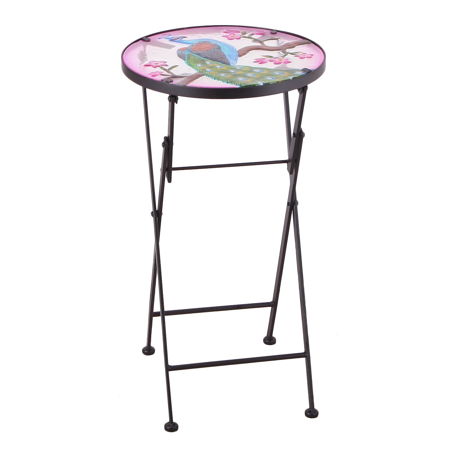 table top plant stand find bella green mosaic outdoor accent get quotations homebeez indoor foldable round side end folding for geometric lamp patio umbrella replacement garden