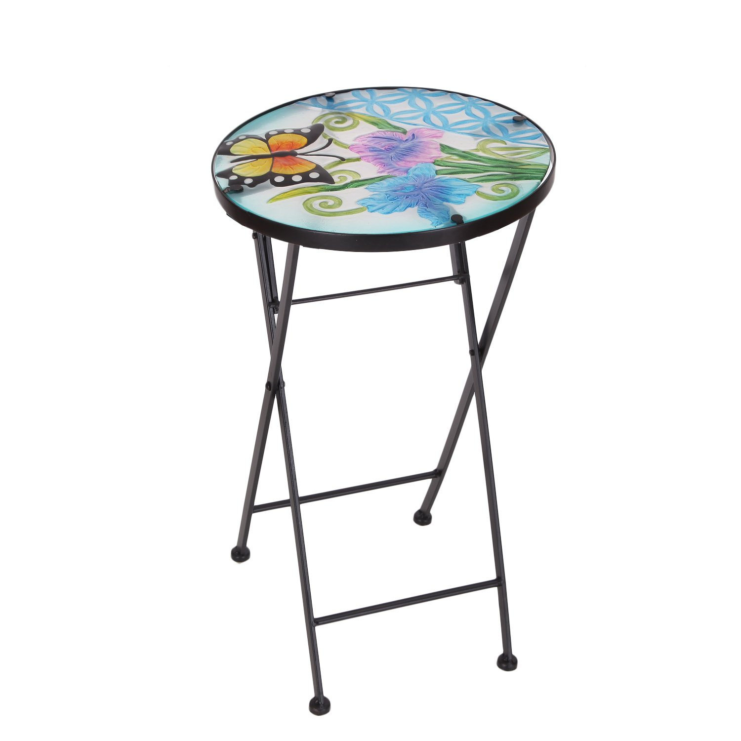 table top plant stand find bella green mosaic outdoor accent get quotations homebeez indoor foldable round side end folding for rattan patio furniture blue pottery barn floor