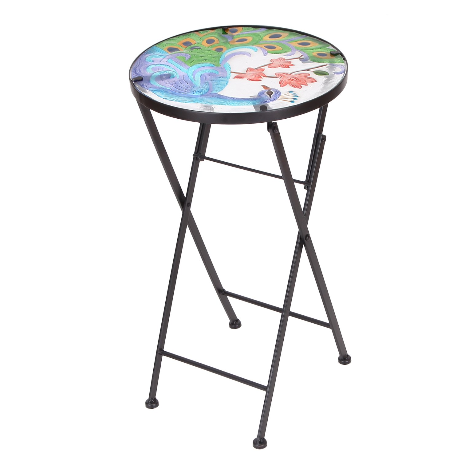 table top plant stand find bella green mosaic outdoor accent get quotations homebeez indoor foldable round side end folding for rattan patio furniture door threshold wide wood