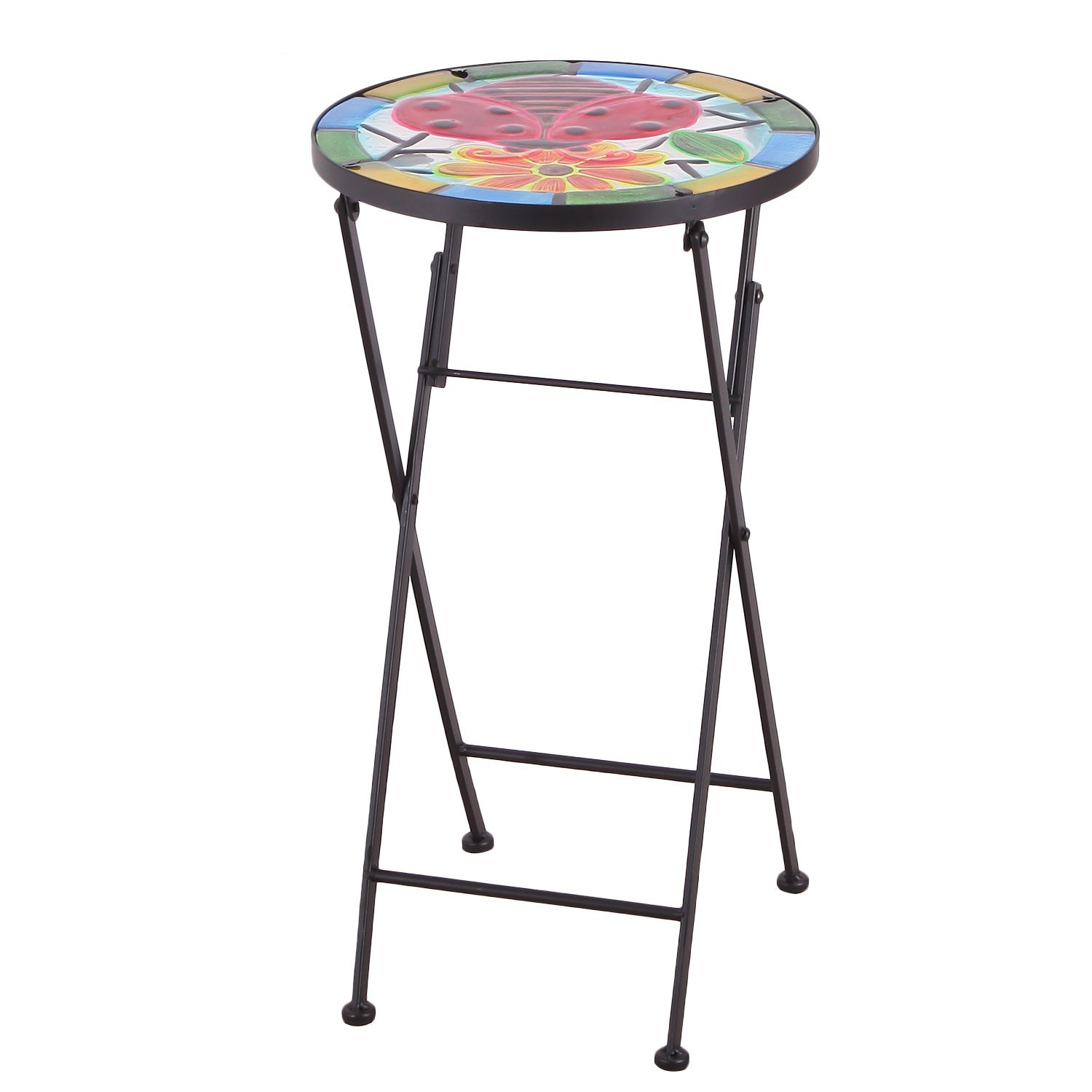 table top plant stand find bella green mosaic outdoor accent get quotations homebeez indoor foldable round side end folding for small vintage console extra wide floor threshold
