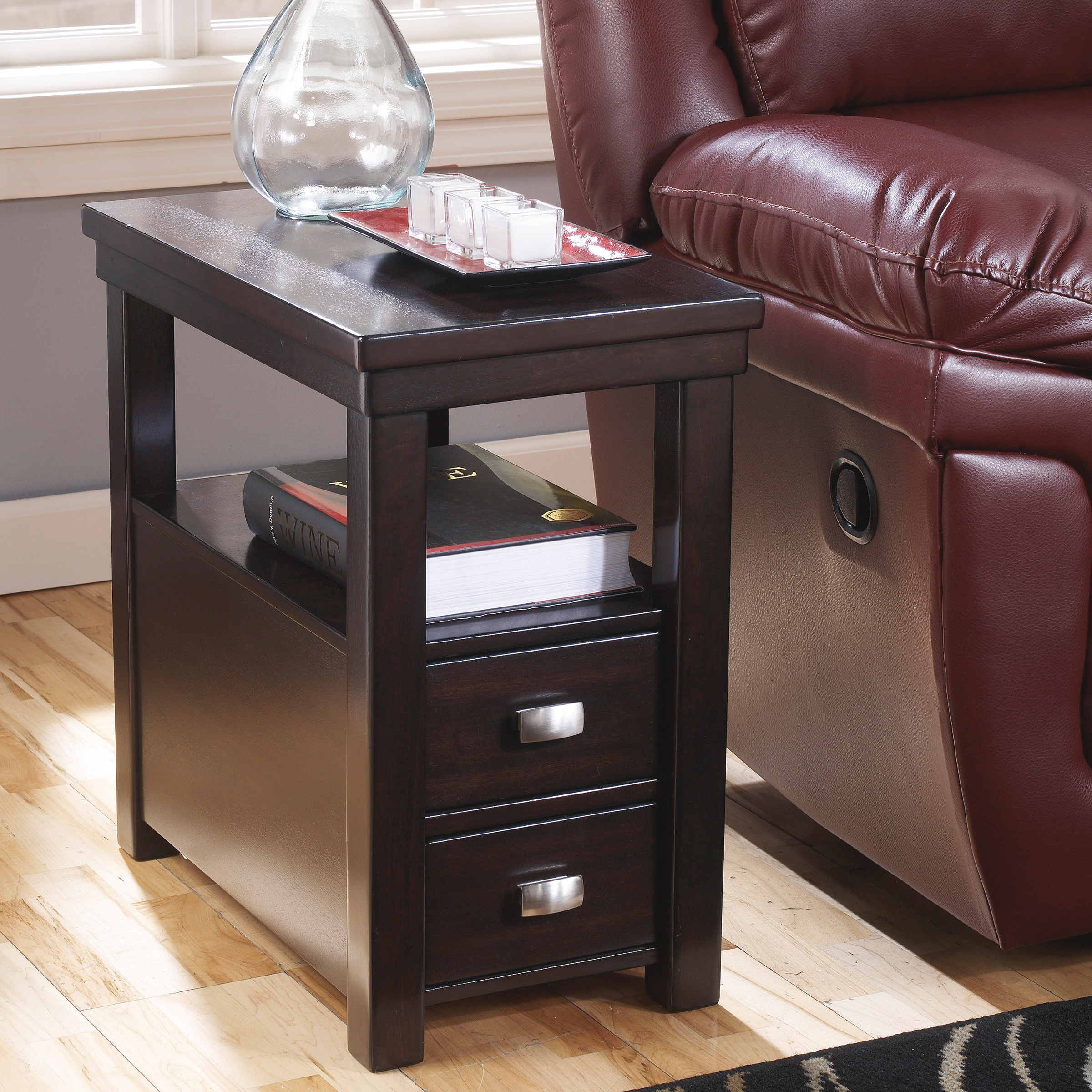 table unique small design ideas with narrow chairside end tables drawers side lamp leick furniture ashley long accent crystal desk coffee matching solid wood console slide bolt