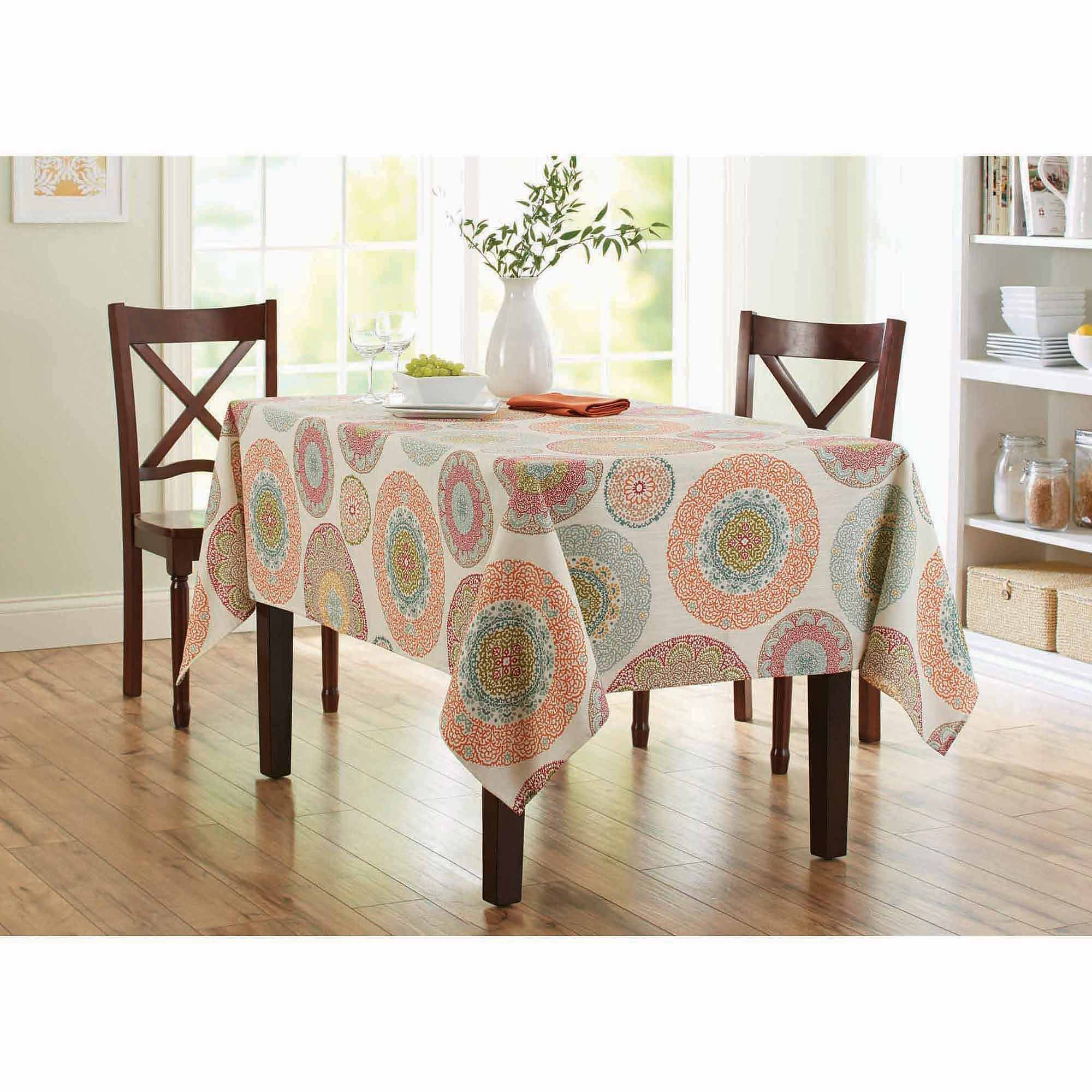 tablecloth for round accent table and better homes gardens lace medallion available cloth summer patio furniture thin wine rack charging station all metal coffee mirrored box home