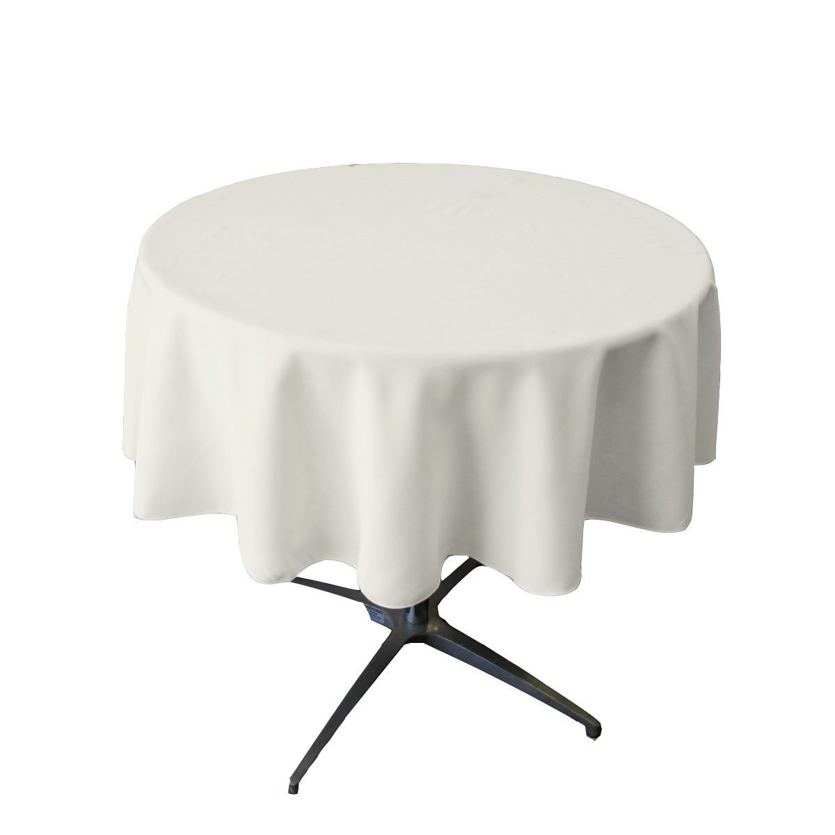 tablecloth small polyester round inch white for accent table broward linens home kitchen narrow console hallway decorative pieces dining tall nightstands bistro set modern glass