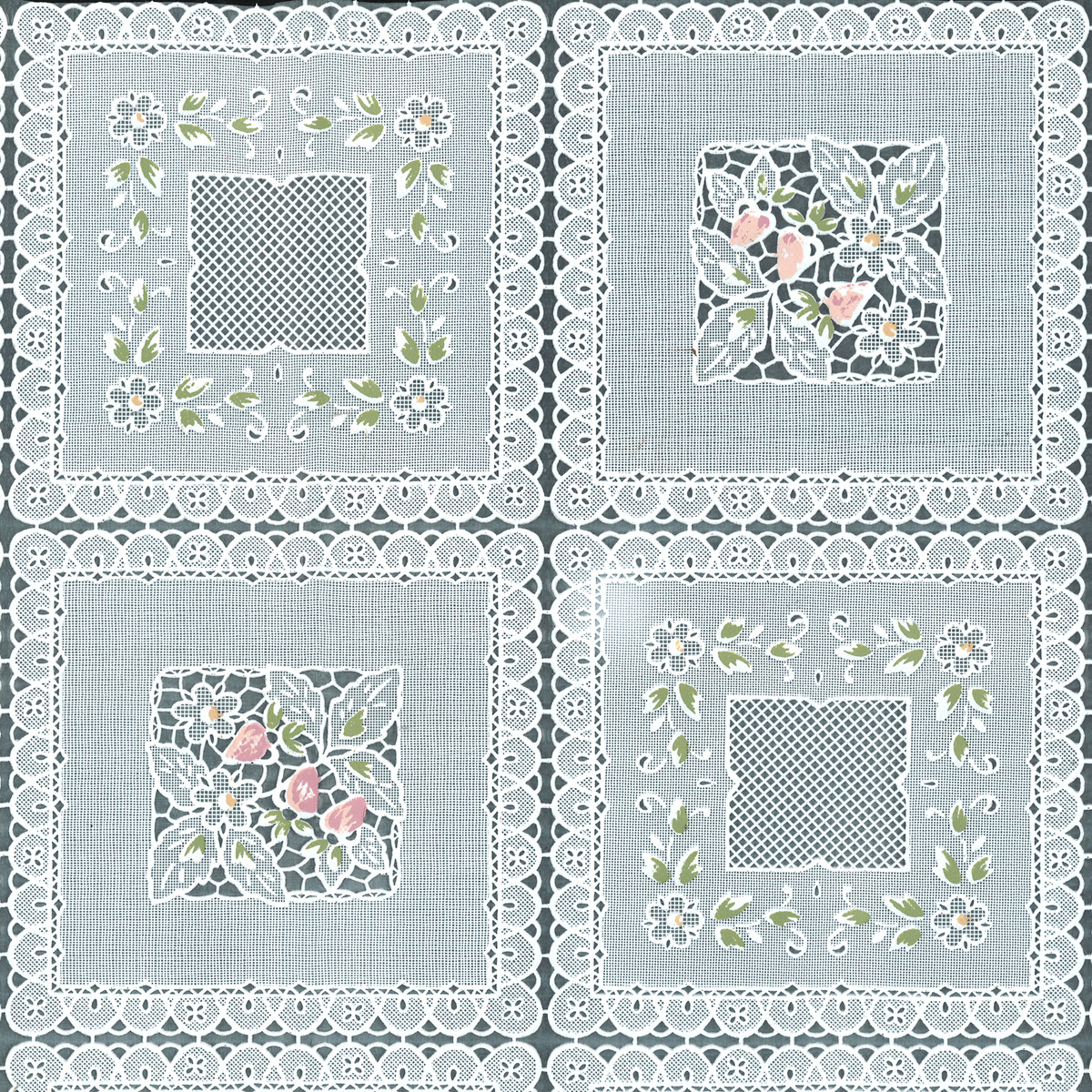tablecloth vinyl squares floral joann artistic accents silver and white table lamp uttermost asher blue accent glass wood tables replacement cushions linen placemats patio