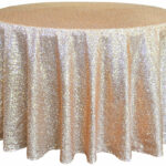 tablecloths burlap bling everything between round sequin taffeta champagne copy tablecloth for inch accent table ottawa pottery barn crystal floor lamp tall nightstand mirror side 150x150