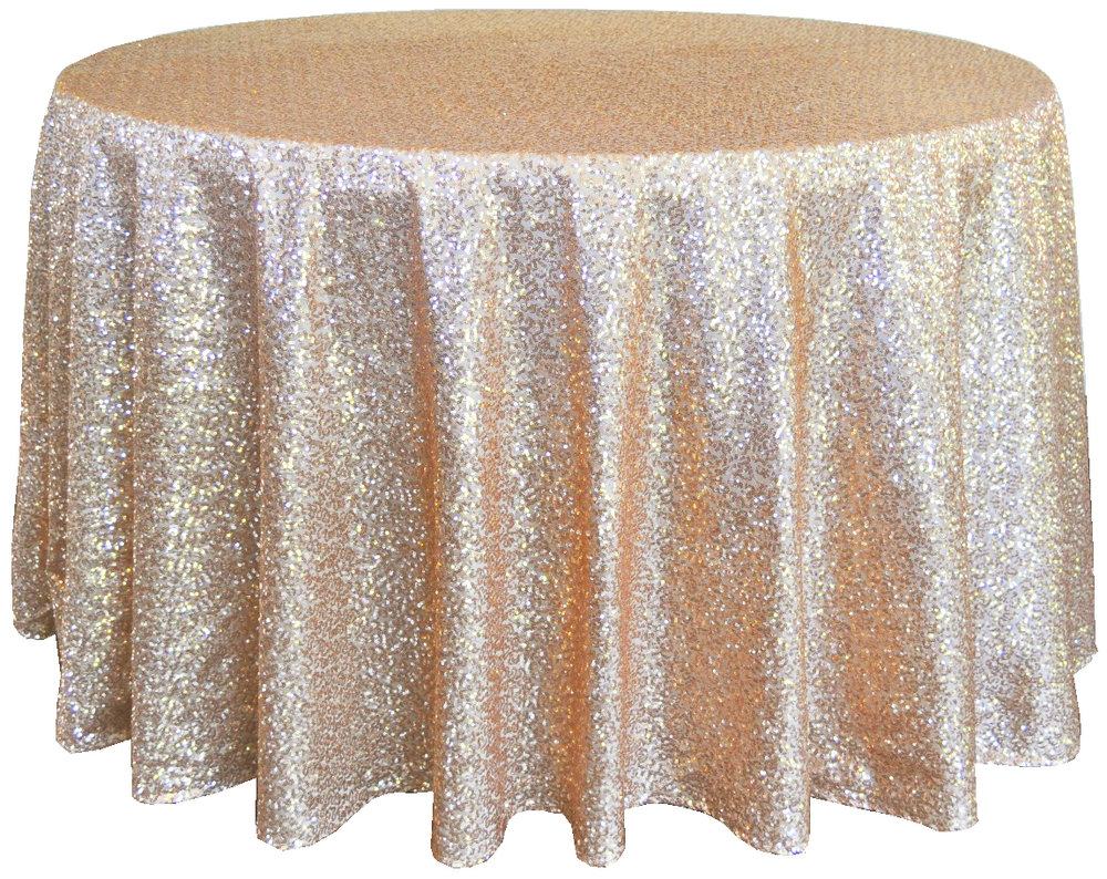 tablecloths burlap bling everything between round sequin taffeta champagne copy tablecloth for inch accent table ottawa pottery barn crystal floor lamp tall nightstand mirror side