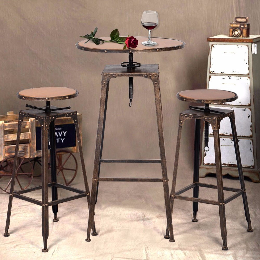 tables bar glass tall chairs granite set top ceramic and table bistro marble tile high outdoor pub end sets accent full size corner cabinet dining room cherry wood pier one