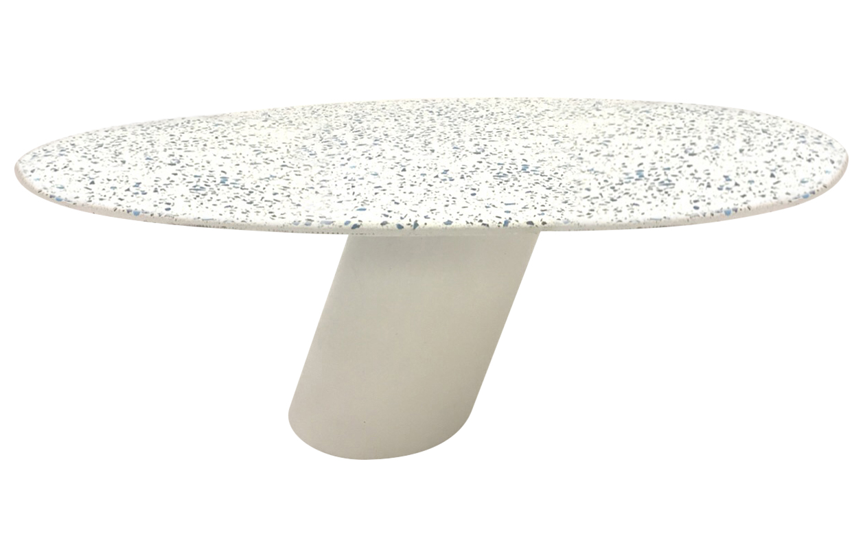 tables bases stools creative concrete furniture fabrication and cantilever oval terrazzo coffee outdoor accent table measuring hobby lobby small metal outside patio chairs soccer