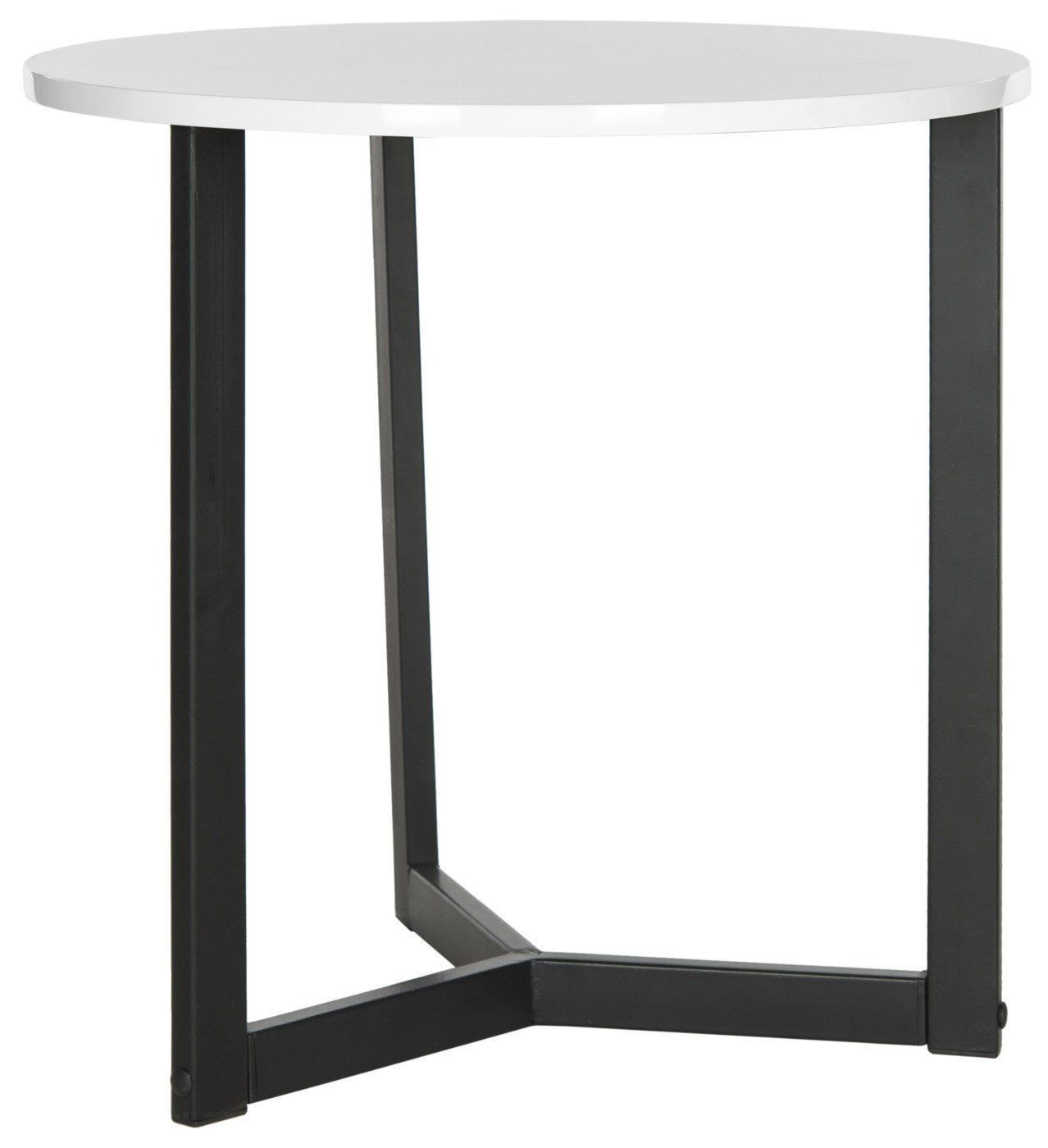 tables contemporary furniture side safavieh ballard lacquer end table white black accent hamilton bay patio kidney bean coffee retro vintage sofa inch high beach themed and sets