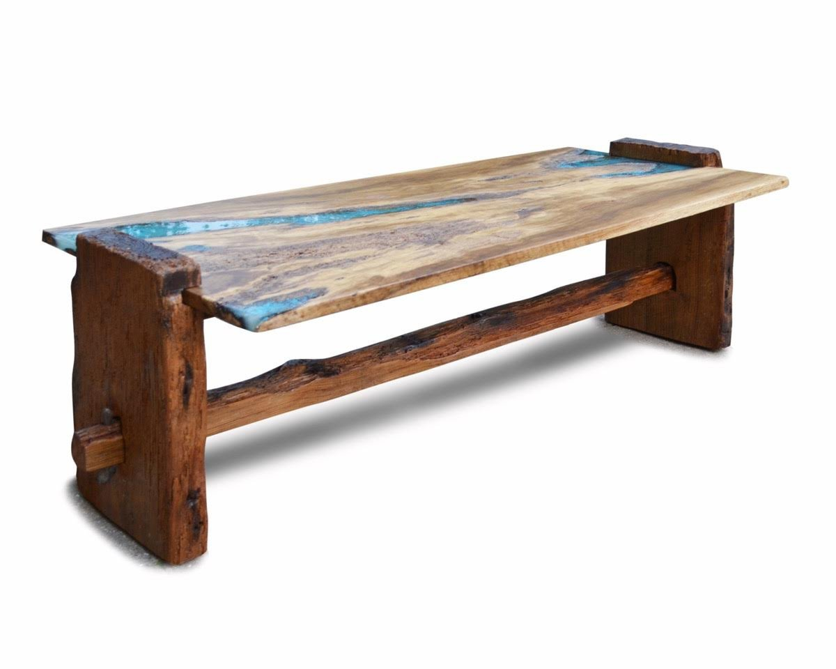 tables hoc home table kade accent live edge rustic oak with turquoise inlay coffee furniture living teak garden piece chair set marble bistro nautical tures queen size height