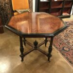 tables trianon antiques table square accent game aesthetic movement ebonized octagonal rare amboya wood satinwood parcel gilt farmhouse dining room height living sets black 150x150