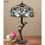 take flight butterfly floral stained glass table lamp accent with cfl bulbs multi pastel each retro chairs entrance way tables coffee calgary tall telephone small drop leaf target 150x150