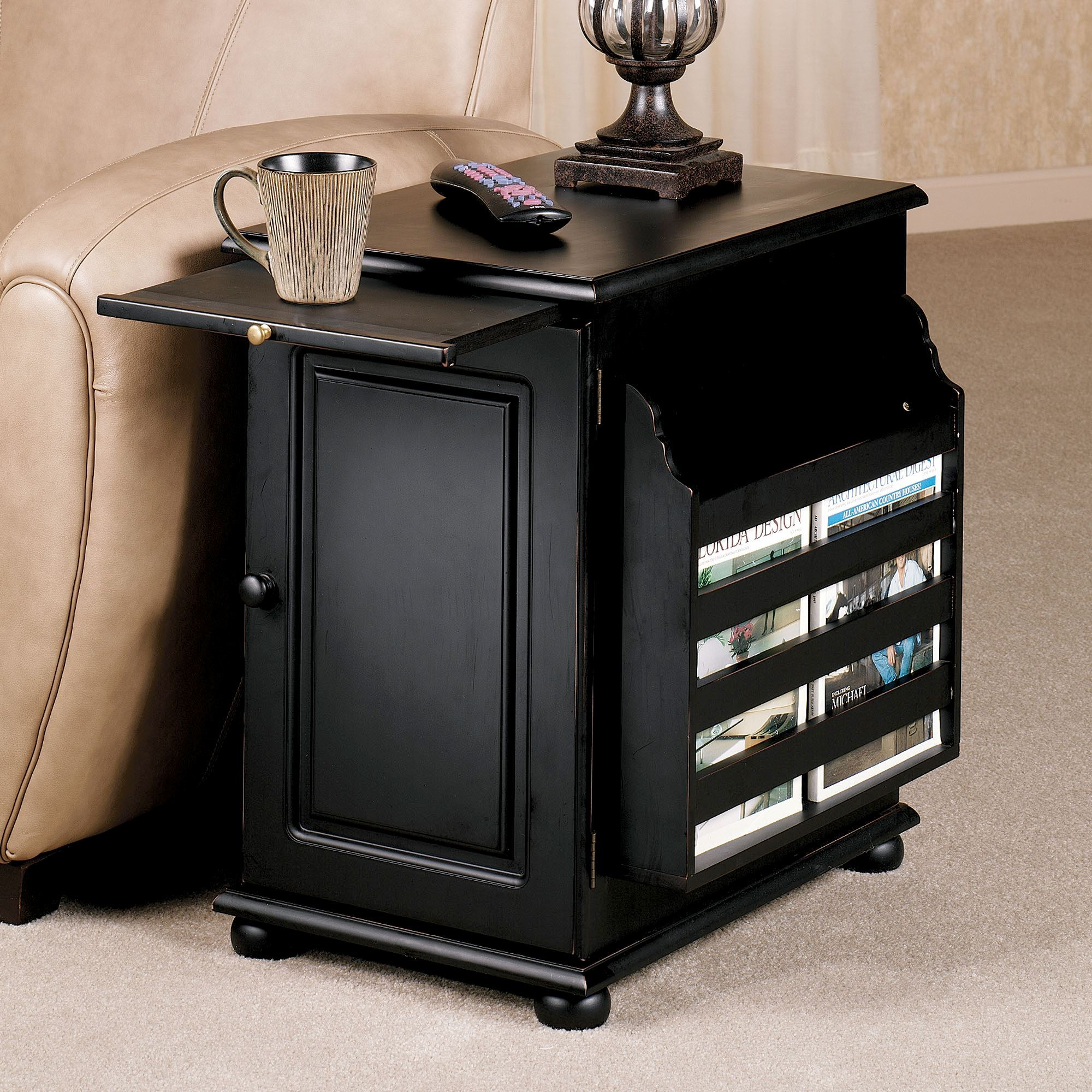 Tall Black End Table Ideas Tiny Round Side Inch Accent With Storage