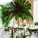 tall centerpieces that will take your reception tables new aster and olive vert chloe accent table centerpiece with greenery pottery barn bench brown wicker patio side 150x150
