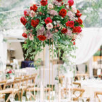 tall centerpieces that will take your reception tables new jen dillender vert chloe accent table centerpiece with red and pink garden roses small square end kid runner foyer 150x150