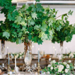 tall centerpieces that will take your reception tables new omalley graphers vert chloe accent table heights martha stewart weddings retro legs long end what trestle contemporary 150x150