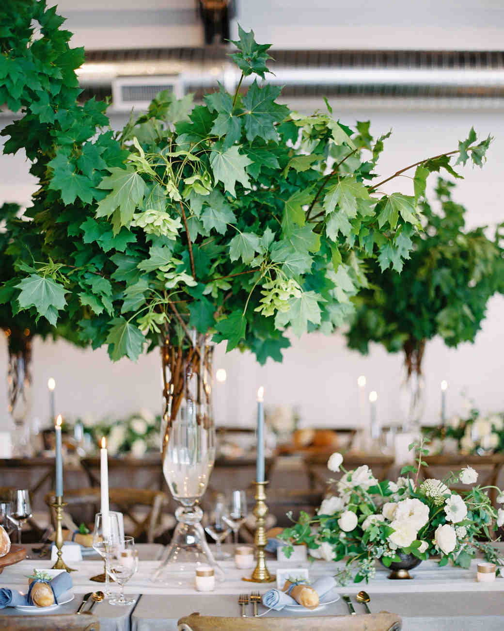 tall centerpieces that will take your reception tables new omalley graphers vert chloe accent table heights martha stewart weddings retro legs long end what trestle contemporary