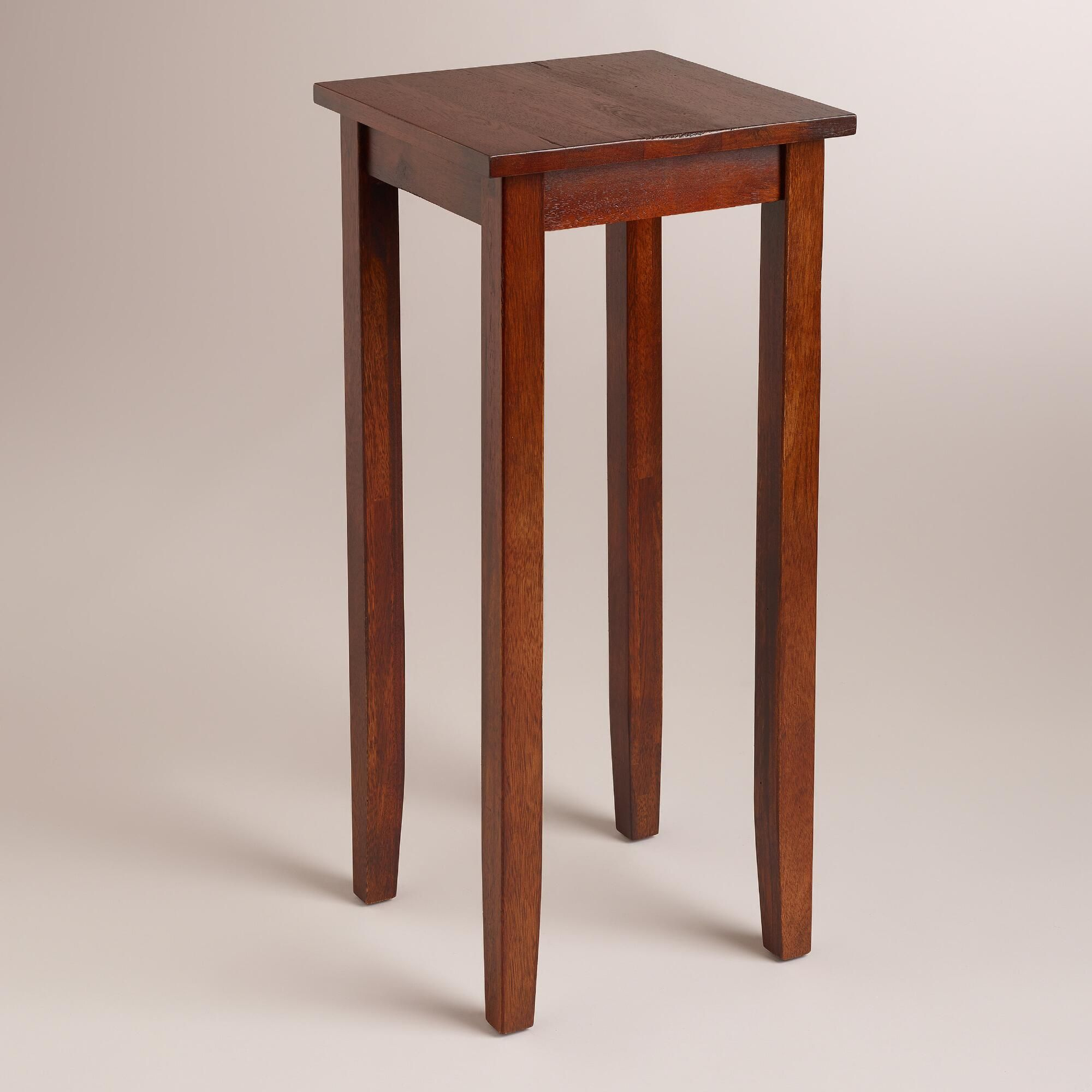 tall chloe accent table brown wood mahogany world market corner our side for any room the house oak and glass bunnings swing chair sliding barn door dining inch round tibetan drum