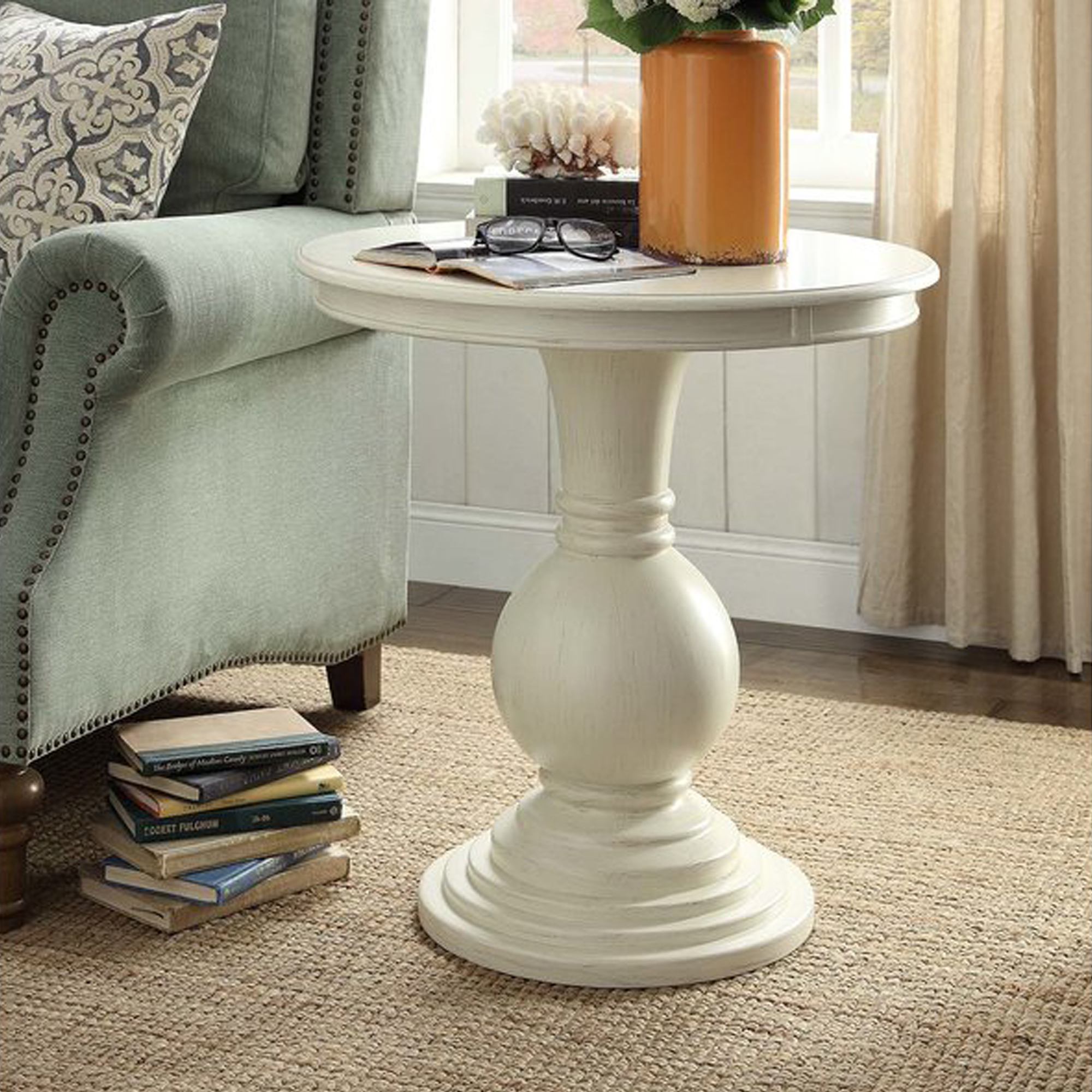tall pedestal accent table design ideas round end tables side lamp for wrought iron small black distressed off white best accentuate your living vintage drop leaf dining inch high