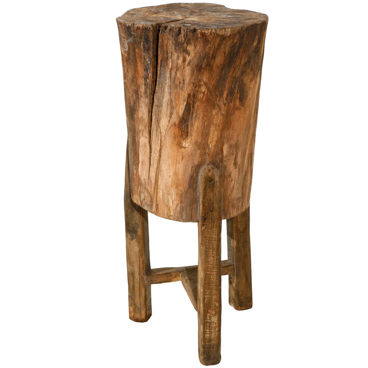 tall pedestal side table jonathan steele accent rustic italian tree stump thin bedside narrow trestle designs replica sofa black half moon antique vintage tables ikea wooden bench