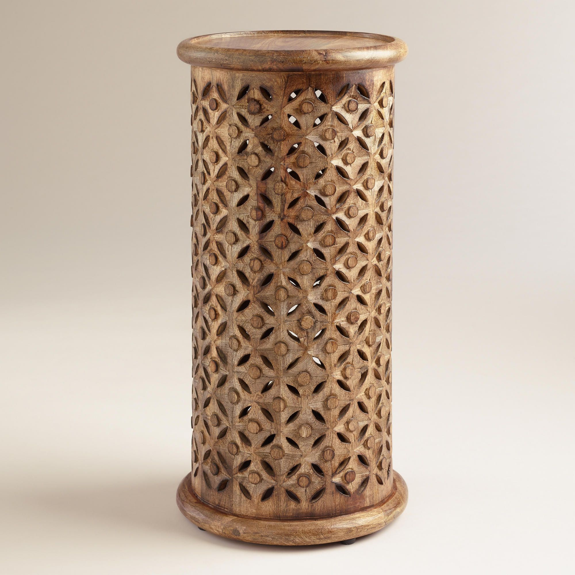 tall tribal carved accent table world market wood metal end hall chests and cabinets activity liquor storage cabinet piece outdoor dining set glass top person square ikea patio