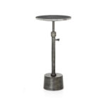tall walter adjustable accent table ebony marble hammered grey imar prm white iron small black metal west elm square outdoor lounge setting bunnings clamp legs counter height 150x150
