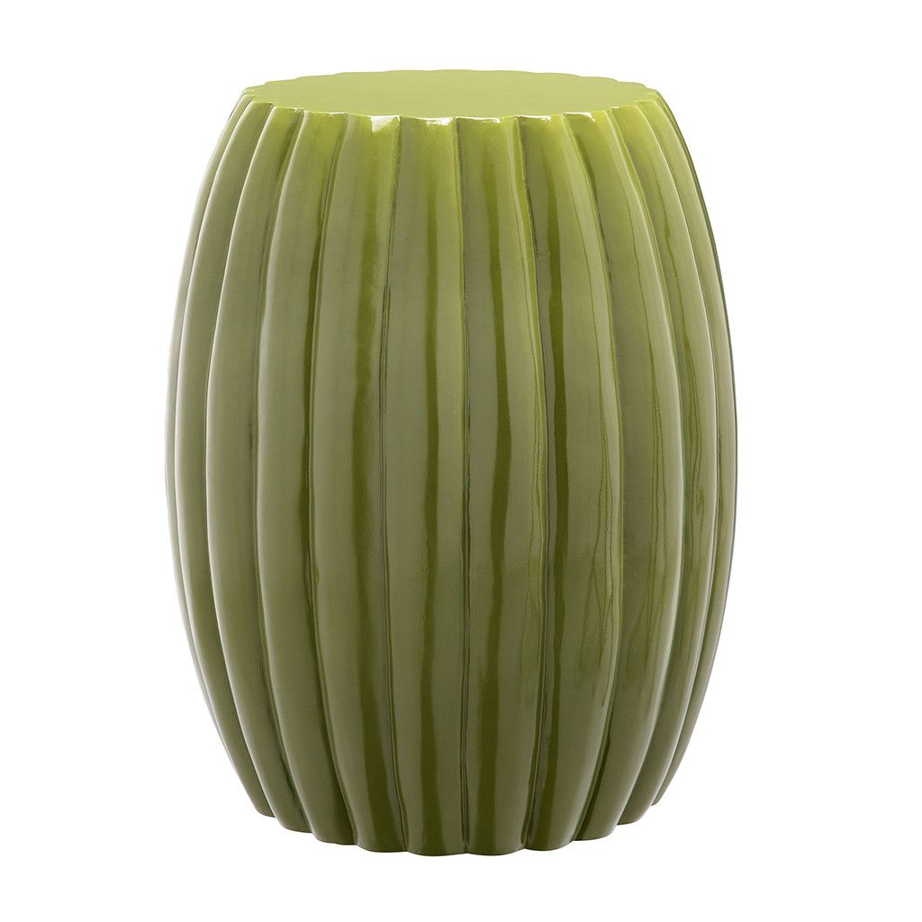 tangerine scallop end table sage green accent tables this citron drum offers the perfect touch any rooms decor when used additional seating displayed pairs furniture behind sofa